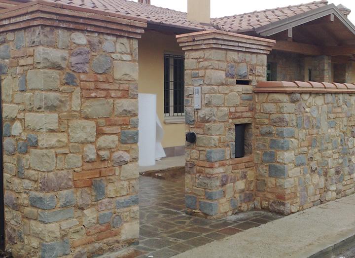 Pietra di credaro tranciato fugato e mattoni vecchi for Mattoni e pietra americani